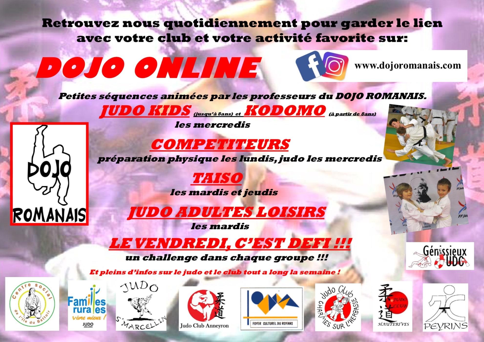 Dojo Online programe avril 2020
