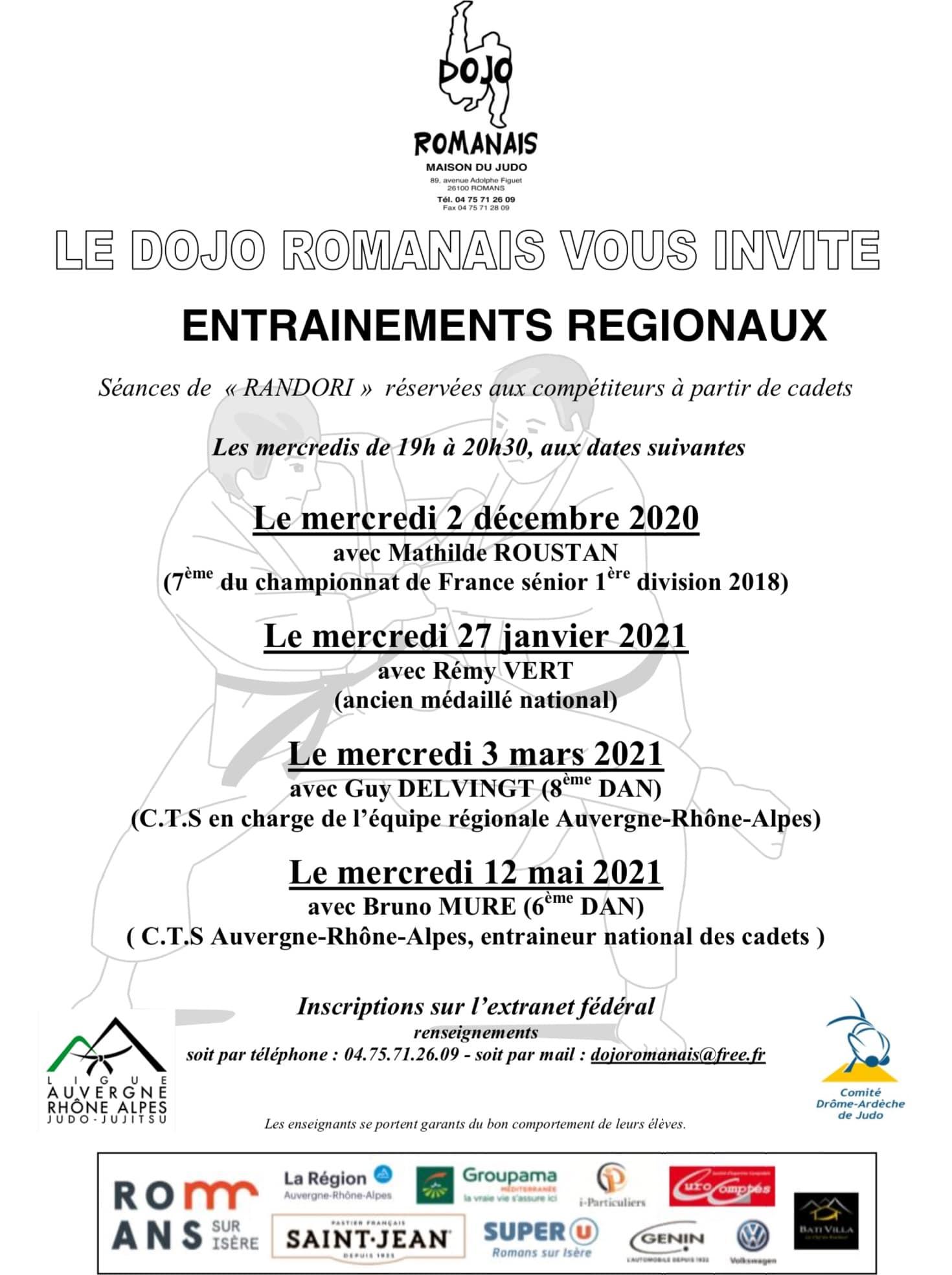 Entraînements régionaux 09 2020