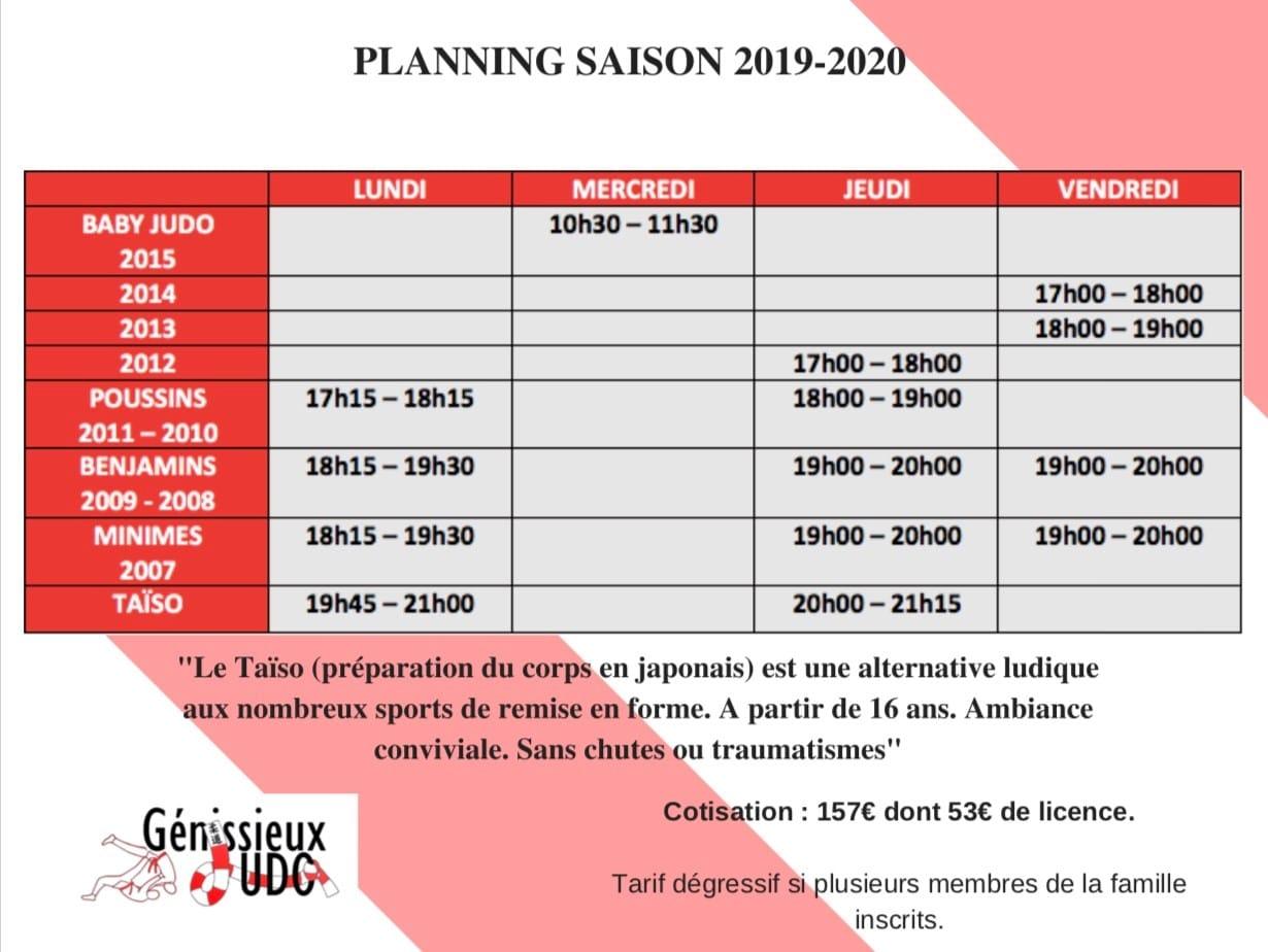Horaire Génissieux 2019 2020