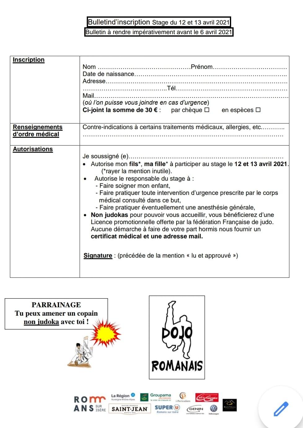 Inscription Compétiteurs Pâques