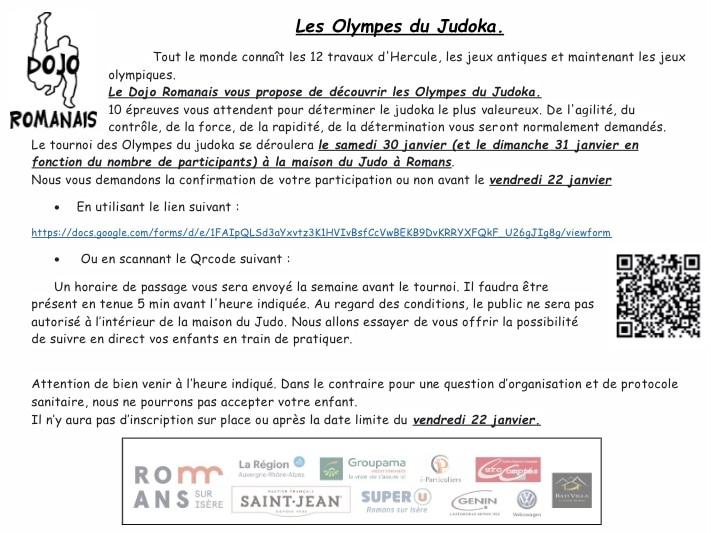 Olympes du judoka