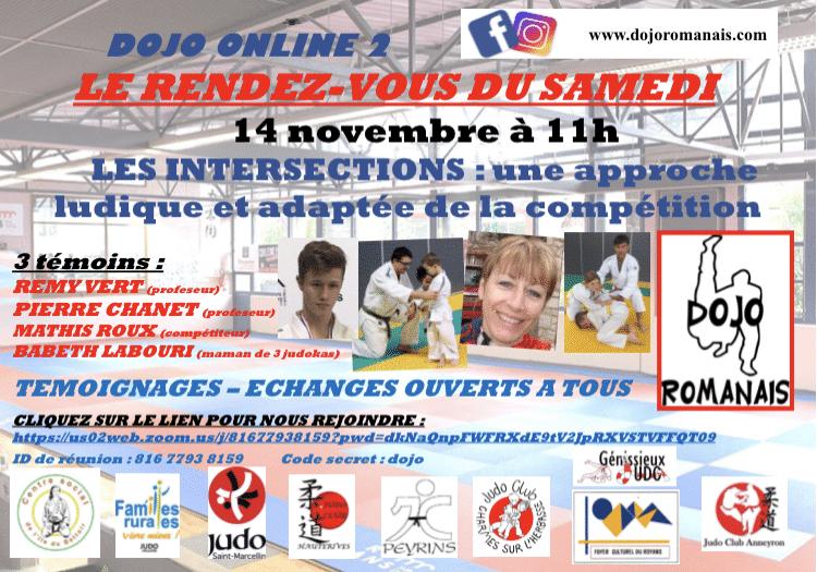 dojo online - rendez vous du samedi 14 novembre